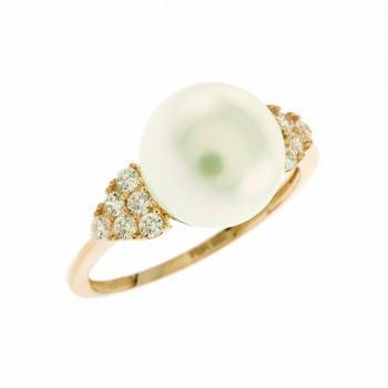 TBS Creations Δαχτυλίδι από ροζ χρυσό 14 καρατίων BSR082158