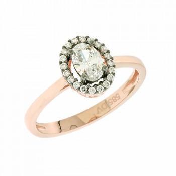 TBS Creations Δαχτυλίδι από ροζ χρυσό 14 καρατίων BSR090972