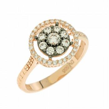 TBS Creations Δαχτυλίδι από ροζ χρυσό 14 καρατίων BSR095357