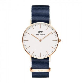 DANIEL WELLINGTON Classic Bayswater - DW00100279,  Rose Gold case with Blue Fabric Strap