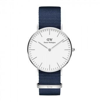 DANIEL WELLINGTON Classic  Bayswater - DW00100280,  Silver case with Blue Fabric Strap