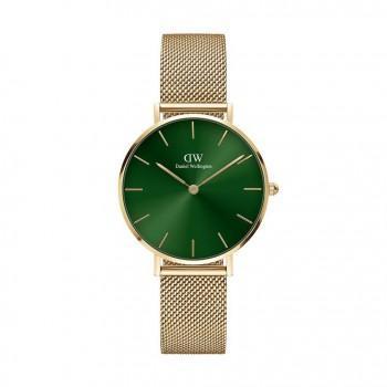 DANIEL WELLINGTON Classic Petite Emerald - DW00100480,  Gold case with Stainless Steel Bracelet