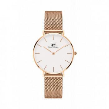 DANIEL WELLINGTON Classic Petite Melrose - 00100163DW, Rose Gold case with Stainless Steel Bracelet