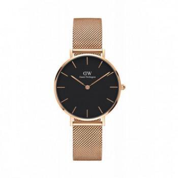 DANIEL WELLINGTON Classic Petite Melrose - 00100161DW, Rose Gold case with Stainless Steel Bracelet