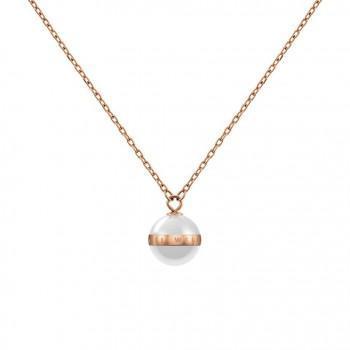 DANIEL WELLINGTON Elan Aspiration Κολιέ από ανοξείδωτο ατσάλι White & Rose Gold DW00400157