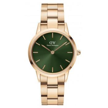 DANIEL WELLINGTON Iconic Link Emerald - DW00100420, Rose Gold case with Stainless Steel Bracelet