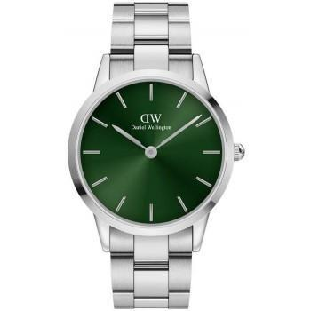 DANIEL WELLINGTON Iconic Link Emerald - DW00100427, Silver case with Stainless Steel Bracelet