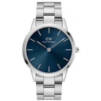DANIEL WELLINGTON Iconic Link Arctic - DW00100448, Silver case with Stainless Steel Bracelet