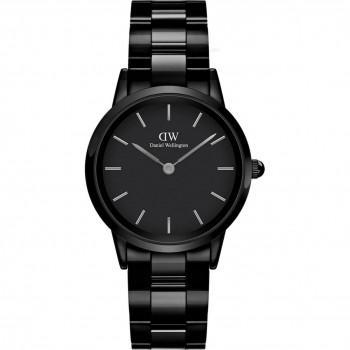DANIEL WELLINGTON Iconic Link Ceramic - DW00100414, Black case with Stainless Steel Bracelet