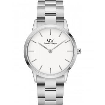DANIEL WELLINGTON Iconic Link - DW00100203, Silver case with Stainless Steel Bracelet