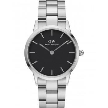 DANIEL WELLINGTON Iconic Link - DW00100204, Silver case with Stainless Steel Bracelet