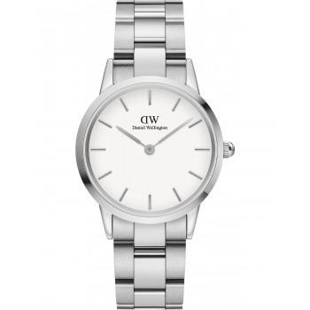DANIEL WELLINGTON Iconic Link - DW00100205, Silver case with Stainless Steel Bracelet
