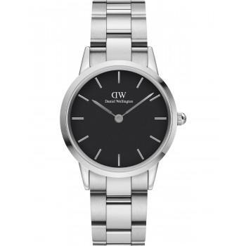 DANIEL WELLINGTON Iconic Link - DW00100206, Silver case with Stainless Steel Bracelet