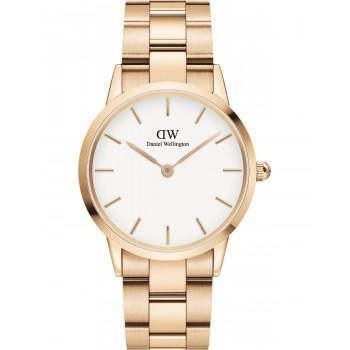 DANIEL WELLINGTON Iconic Link - DW00100209, Rose Gold case with Stainless Steel Bracelet