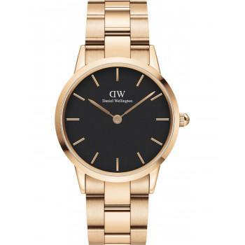 DANIEL WELLINGTON Iconic Link - DW00100210, Rose Gold case with Stainless Steel Bracelet