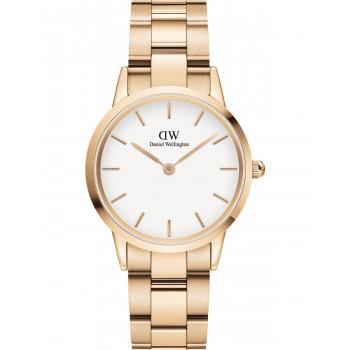 DANIEL WELLINGTON Iconic Link - DW00100211, Rose Gold case with Stainless Steel Bracelet
