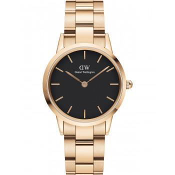 DANIEL WELLINGTON Iconic Link - DW00100212, Rose Gold case with Stainless Steel Bracelet