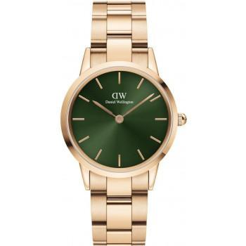 DANIEL WELLINGTON Iconic Link Emerald- DW00100419, Rose Gold case with Stainless Steel Bracelet