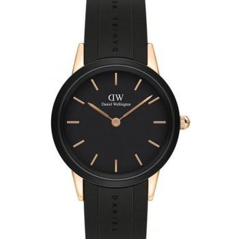 DANIEL WELLINGTON Iconic Link Motion - DW00100425,  Rose Gold case with Black Rubber Strap