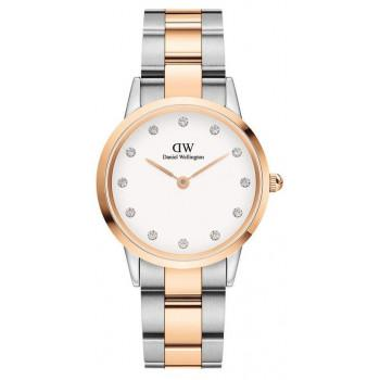 DANIEL WELLINGTON Iconic Link Lumine - DW00100358, Silver case with Stainless Steel Bracelet