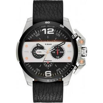 DIESEL Ironside - DZ4361 Black case, with Black Leather Strap