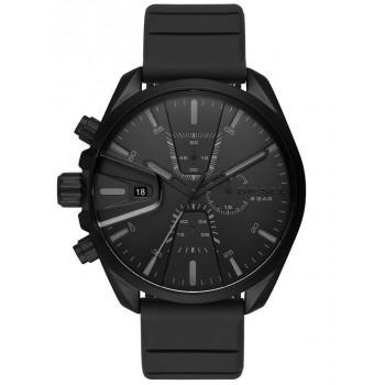 DIESEL MS9 Chronograph - DZ4507  Black case with Black Rubber Strap