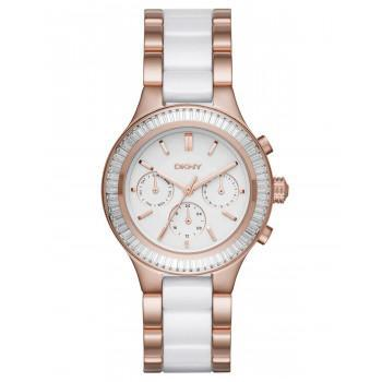 DKNY Chambers   - NY2498, Rose Gold case with Stainless Steel Bracelet