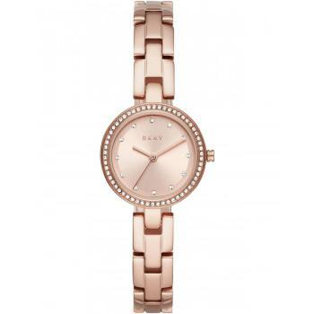 DKNY City Link Crystals - NY2826, Rose Gold case with Stainless Steel Bracelet