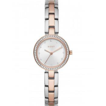 DKNY City Link Crystals - NY2827, Rose Gold case with Stainless Steel Bracelet