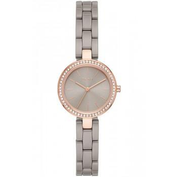 DKNY City Link Crystals - NY2916  Rose Gold case with Stainless Steel Bracelet