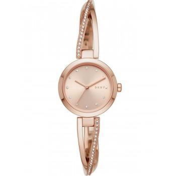 DKNY Crosswalk Crystals - NY2831, Rose Gold case with Stainless Steel Bracelet