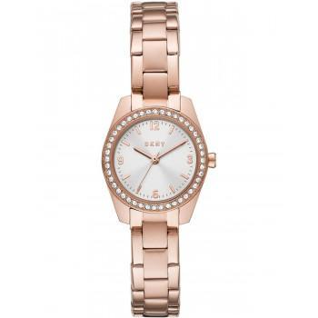 DKNY Nolita Crystals  - NY2921  Rose Gold case with Stainless Steel Bracelet