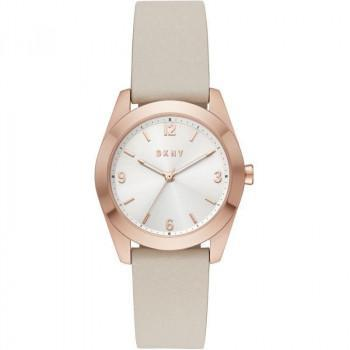 DKNY Nolita - NY2877, Rose Gold case with Beige Leather Strap