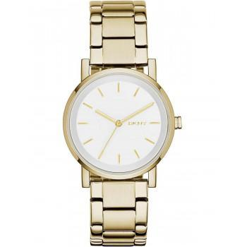 DKNY Soho Ladies - NY2343, Gold case with Stainless Steel Bracelet