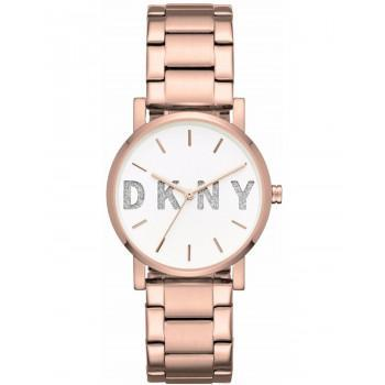 DKNY Soho Ladies  - NY2654, Rose Gold case with Stainless Steel Bracelet