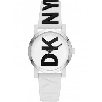 DKNY Soho  - NY2725  Silver case with White Rubber Strap