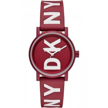 DKNY Soho - NY2774, Red case with Red Leather Strap