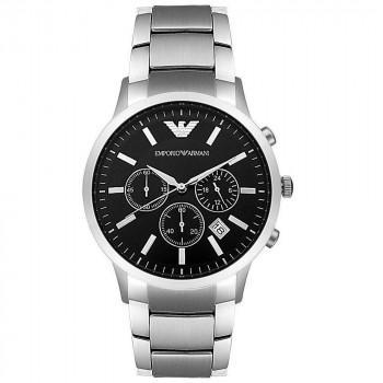 EMPORIO ARMANI Chrono - AR2434, Silver case with Stainless Steel Bracelet