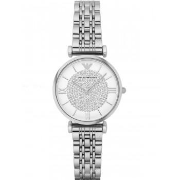 EMPORIO ARMANI Gianni T-Bar -  AR1925,  Silver case with Stainless Steel Bracelet