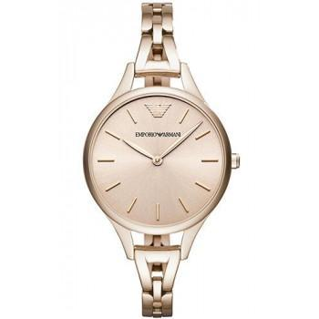 EMPORIO ARMANI Ladies Dress- AR11055, Rose Gold case with Stainless Steel Bracelet