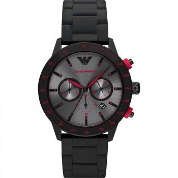 EMPORIO ARMANI Mario Chronograph - AR11392, Black case with Stainless Steel Bracelet