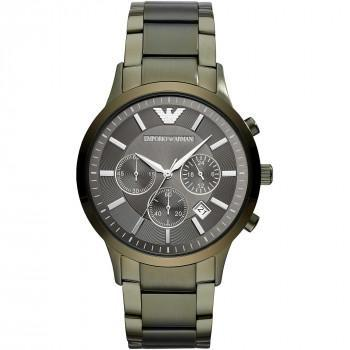 EMPORIO ARMANI Men's Chronograph -  AR11117, Khaki case with Stainless Steel Bracelet