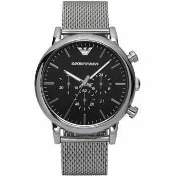 EMPORIO ARMANI Men's Chronograph -  AR1808, Silver case with Stainless Steel Bracelet