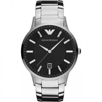 EMPORIO ARMANI Mens - AR11181, Silver case with Stainless Steel Bracelet