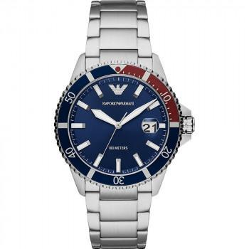 EMPORIO ARMANI Mens - AR11339, Silver case with Stainless Steel Bracelet