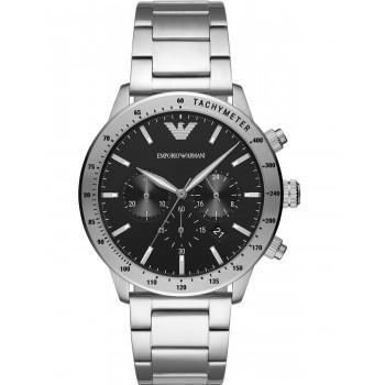 EMPORIO ARMANI Mens Chronograph - AR11241, Silver case with Stainless Steel Bracelet