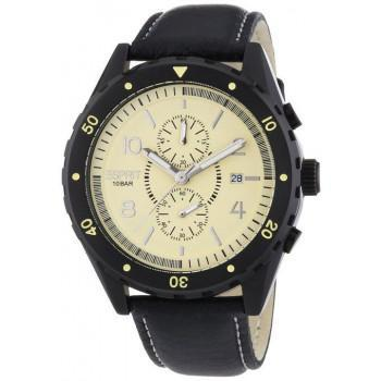 ESPRIT Alamo Chrono - ES105551002 Black case, with Black Leather Strap