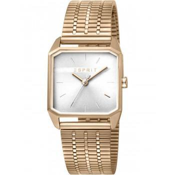 ESPRIT Cube Ladies - ES1L071M0035  Gold case with Stainless Steel Bracelet