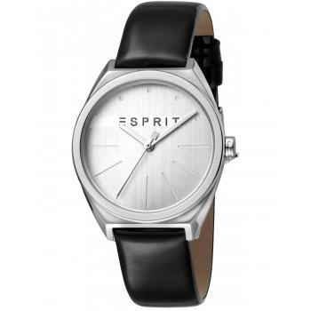 ESPRIT Slice Ladies - ES1L056L0015, Silver case with Black Leather Strap