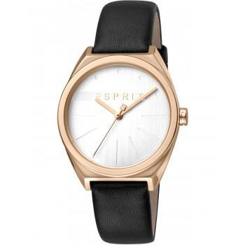 ESPRIT Slice Ladies - ES1L056L0035, Rose Gold case with Black Leather Strap